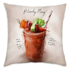 Oliver Gal 18 x 18 in. Bloody Mary Throw Pillow - 12469.PILLOW_18X18_MF