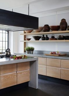 ideas de cocinas en concreto por Mariangel Coghlan13