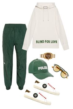 """On the daily"" by natfernandeza ❤ liked on Polyvore featuring Vetements, Yves Saint Laurent and Gucci"