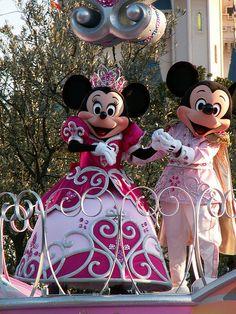 Mickey and Minnie at Tokyo Disneyland