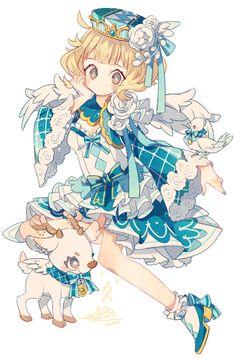 冬の天使 Manga Kawaii, Kawaii Chibi, Kawaii Art, Kawaii Anime Girl, Anime Art Girl, Manga Art, Anime Chibi, Manga Anime, Anime Sexy