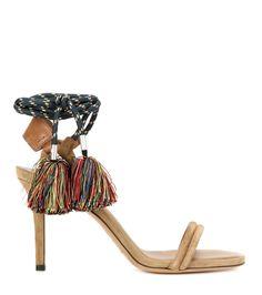 mytheresa.com - Aura tasselled suede sandals - Luxury Fashion for Women / Designer clothing, shoes, bags