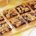 blueberry crumb bars w/shortbread crust