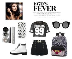 """""""Problem"""" by sassaalice on Polyvore featuring moda, Dr. Martens, Vans, Quay, Topshop e Bobbi Brown Cosmetics"""