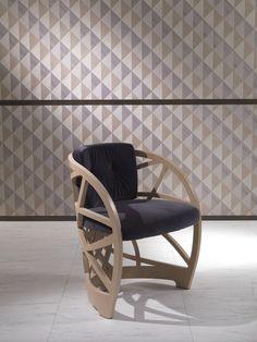 Mueble modular de pared independiente de madera de estilo moderno BOISERIE OPTICAL SKIN | Mueble modular de pared by Carpanelli Contemporary