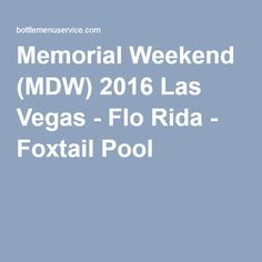 memorial day 2016 vegas