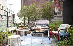 Um espaço exterior vibrante para viver a época estival