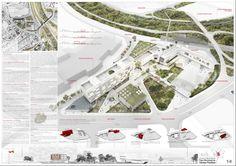 A As Architecture, Landscape Architecture Drawing, Architecture Graphics, Architecture Portfolio, Landscape Design, Presentation Board Design, Architecture Presentation Board, Project Presentation, Plan Maestro