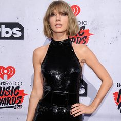 Tay looking fierce on the iHeartRadio Music Awards red carpet!