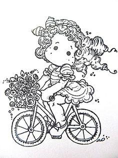 magnolia op de fiets