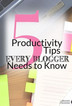 Having trouble getting all of your blogging tasks done in a day? Here are 5 productivity tips that will help you get though your to-do list in no time!