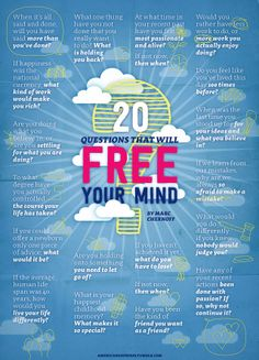 20 Questions that will free your Mind