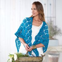 Grecian Puffs #Shawl - Puff stitches create phenomenal texture in this #crochet pattern.