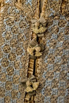 Detail of the gown of Katharina Zur Lippe (1594-1600), at the Lippisches Landesmuseum.