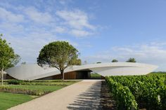 designboom 2012 top ten: cultural/ institutional - 'Chateau Cheval Blanc winery' by Christian de Portzamparc