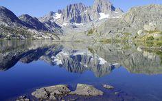 nice #HDWallpaper Reflected Lake in Beautiful Mountain Range