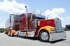 Kenworth Show Truck Kenworth T800, Peterbilt Trucks, Chevy Trucks, Pickup Trucks, Dually Trucks, Show Trucks, Big Rig Trucks, Custom Big Rigs, Custom Trucks