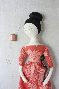 a fortuny ragdoll, a little brown owl goes to sea and new things in the shop – ann wood handmade Fabric Dolls, Paper Dolls, Rag Dolls, Cloth Art Dolls, Tiny Dolls, Soft Dolls, Doll Clothes Patterns, Doll Patterns, Ann Wood