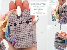 Pusheens are very popular toys with kids, and are the themes of countless products. This amigurumi pusheen will be the perfect pocket companion for your kids, Amigurumi Patterns, Crochet Patterns, Farm Blankets, Free Crochet, Crochet Hats, Tiny Bunny, Popular Toys, Warm Outfits, Crochet Slippers