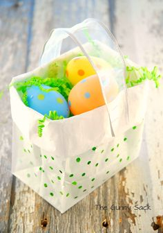 hole-y gift bags ... so cute