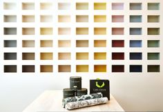 Our London showroom colour wall.