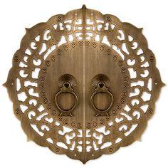 "Flowering Lotus Cabinet Face Plate 9-7/8"""