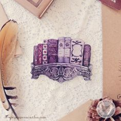Bookshelf brooch