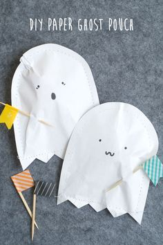 DIY: paper ghost pouch- great summer activity for the kiddos!