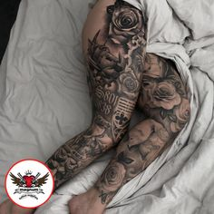 Incredible leg sleeve done using from Troy Tuck! 👊 👏… Incredible leg sleeve done using from Troy Tuck! Girl Leg Tattoos, Dope Tattoos, Finger Tattoos, Black Tattoos, Body Art Tattoos, Tatoos, Juwel Tattoo, Calf Tattoo, Sexy Tattoos For Women