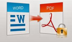 Convert your important Word documents into PDF file format making them secure and easily shareable