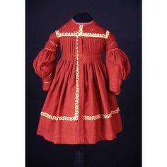1838-1839, Knabenkleid aus Wolle und Baumwolle, USA