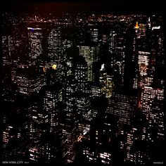 Silk: Manhattan at night - Image: City view from 30 Rock, NYC (35 x 35)