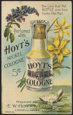Perfumed with Hoyt's 10 Cent Cologne [back] | by Boston Public Library