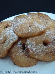 The Dutch Table: Appelbeignets Apple fritters made by my father every new year...might start the tradition again