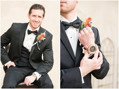 Groom in black tie and suit for portraits before wedding at Oak Hills Reception and Event Center Wedding Couple Pictures, Wedding Couples, Couple Photos, Rain On Wedding Day, Before Wedding, Utah Jazz, Couples Images, Utah Wedding Photographers, Mens Fashion Suits
