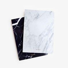 Marble Blank Notebook - Pocketo