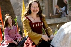 Susan and Lucy from Prince Caspian.  Both dresses are lovely.  I wish there were more shots of them!  #Narnia