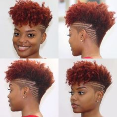 🌺💈🌺~ Edgy haircut 💈hairstyle while naturally fabulous ~🌺💈🌺 Natural Hair Short Cuts, Short Natural Haircuts, Tapered Natural Hair, Edgy Haircuts, Pelo Natural, Short Curly Hair, Hairstyles Haircuts, Short Hair Cuts, Curly Hair Styles
