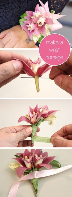 Prom and wedding seasons are upon us! Make your own wrist corsage to save money and add unique touches a florist would normally charge extra for. How to instructions here: http://www.ehow.com/how_4444119_make-wrist-corsage.html?utm_content=buffer9e9ce&utm_medium=social&utm_source=pinterest.com&utm_campaign=buffer…