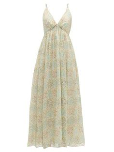 New Loup Charmant Adelaide floral-print organic cotton dress Womens Dresses. offers on top store Pretty Outfits, Pretty Dresses, Beautiful Dresses, Cute Outfits, Beach Wear Dresses, Girls Dresses, Summer Dresses, Moda Vintage, Look Cool