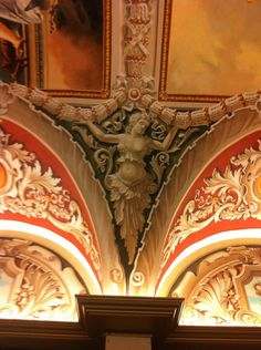 Grisaille on ceiling area of Venetian Plaza Hotel in Las Vegas by Faizulla Khamraev