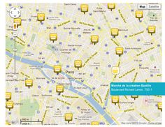 Map of 75 Paris markets, organized by arrondissement with info on days & hours operation.Excellent resource!