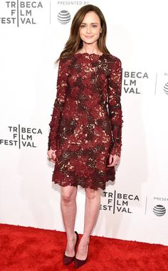 Alexis Bledel from 2017 Tribeca Film Festival: Star Sightings  The Gilmore Girls actress attends the The Handmaid's Tale premiere.