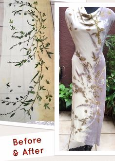 Eco printed knit silk with little leaves placement How To Dye Fabric, Fabric Art, Fabric Crafts, Shibori, Felt Flower Scarf, Natural Dye Fabric, Fabric Embellishment, Painted Leaves, Textiles