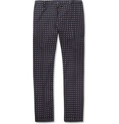 Gucci Printed Cotton and Silk-Blend Trousers | MR PORTER