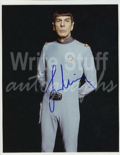 Leonard Nimoy as Mr Spock in Star Trek Film and Television Signed Photograph Autograph