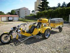 Road Trip ! Trike Chopper, Vw Trike, Trike Motorcycle, Custom Trikes, Custom Choppers, Car Engine, Cool Bikes, Cars And Motorcycles, Motorbikes