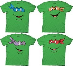 TMNT Teenage Mutant Ninja Turtles Face Green Adult T-shirt Tee: This tee features the face of one of your favorite turtles. Ninja Turtle Party, Ninja Party, Ninja Turtle Birthday, Ninja Turtle Shirts, Turtle Birthday Parties, 4th Birthday, Birthday Ideas, Husband Birthday, Party Deco