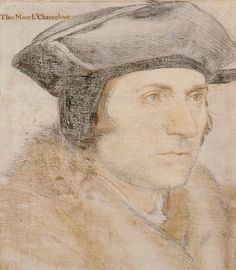 A sketch of Sir Thomas More from 1527, which served as the basis for his most famous portrait, finalized in that same year. By Hans Holbein the Younger.