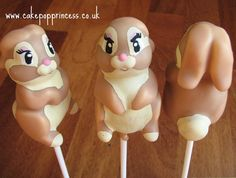 Miss Bunny (Thumper from Bambi's girlfriend) cake pops! x